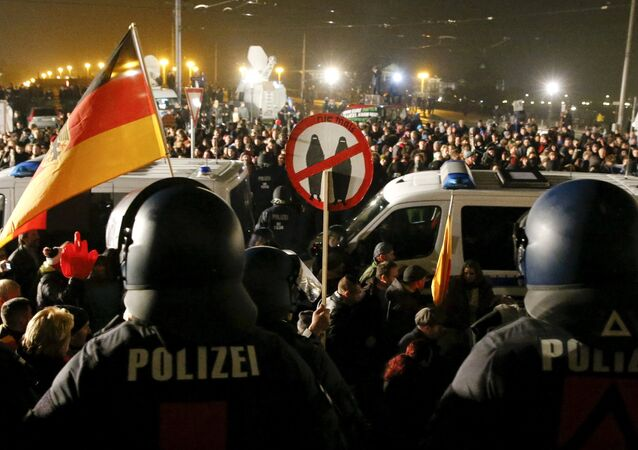 V pondělí se konala v Drážďanech početná demonstrace hnutí PEGIDA