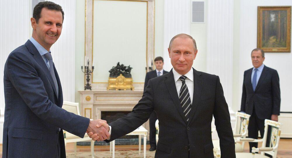 Bašár Asad a Vladimir Putin