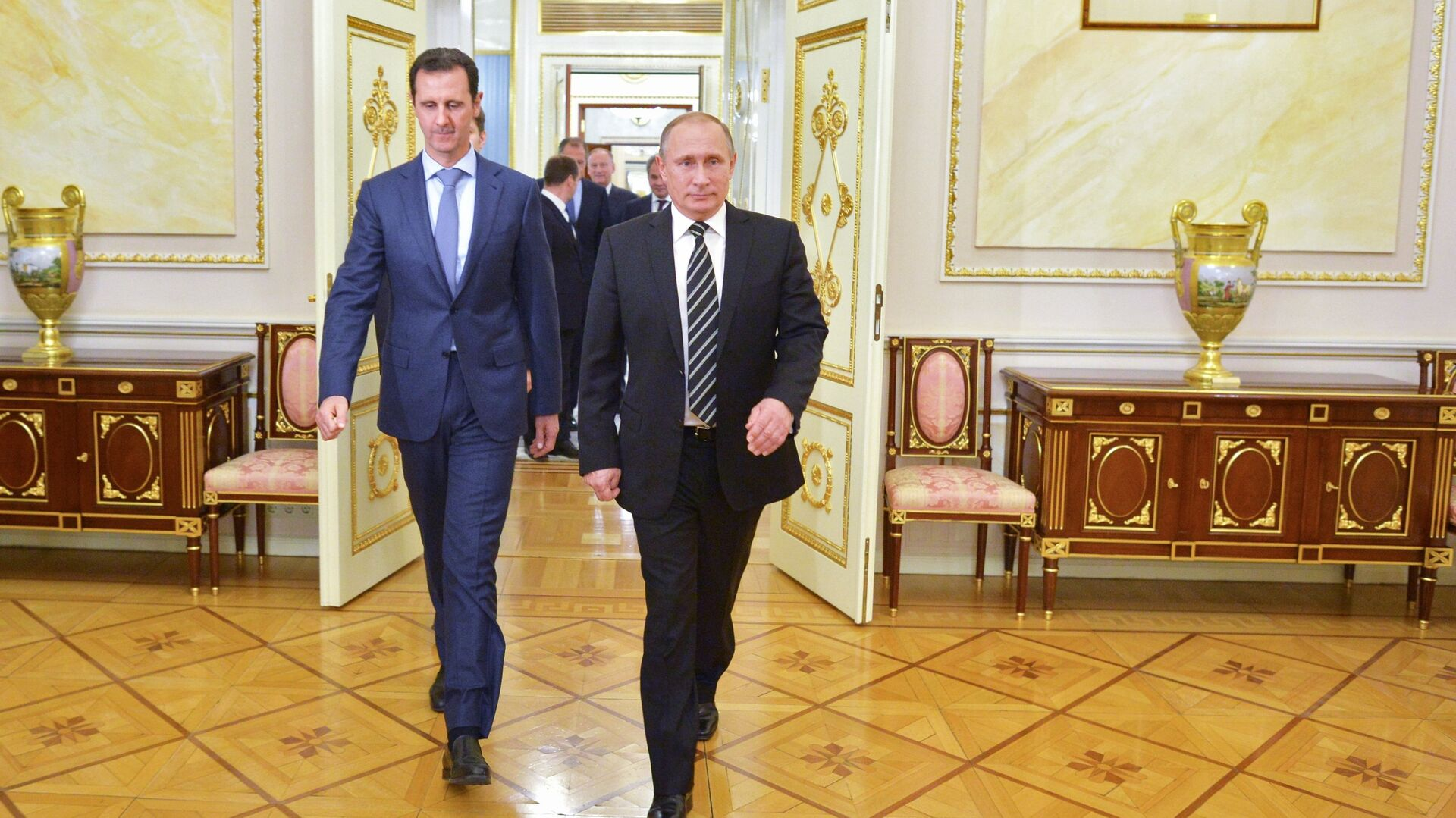 Bašár Asad a Vladimir Putin - Sputnik Česká republika, 1920, 14.09.2021