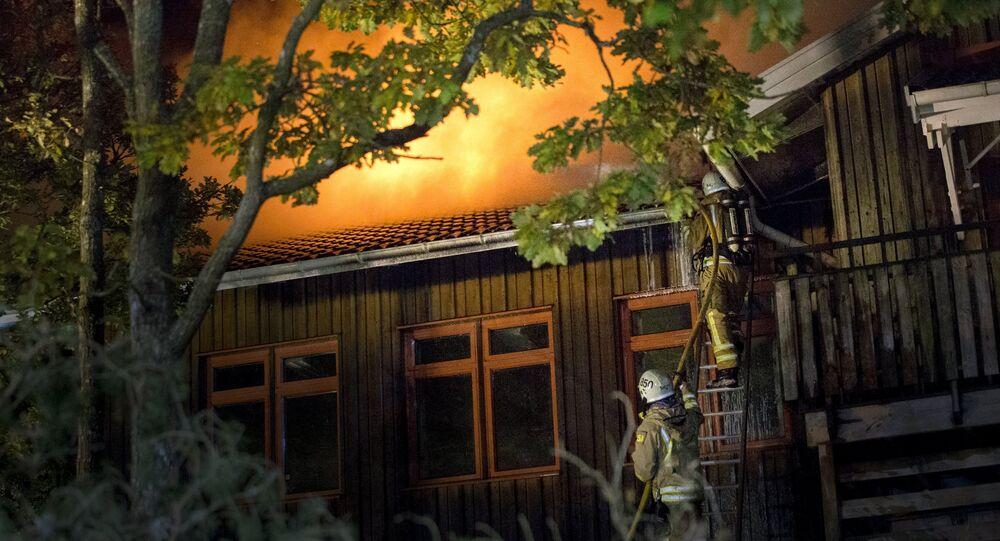 Požár školy ve Švédsku