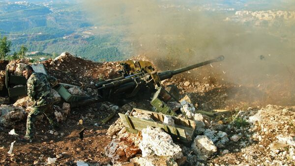 Pozice syrské armády - Sputnik Česká republika