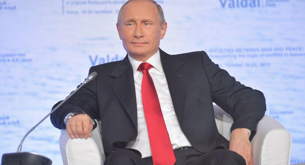 Vladimir Putin na setkání klubu Valdaj