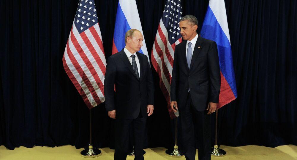 Ruský prezident Vladimir Putin a americký prezident Barack Obama