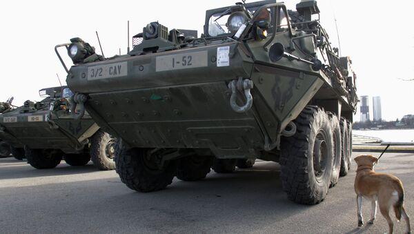 Americká vojenská technika v Lotyšsku - Sputnik Česká republika