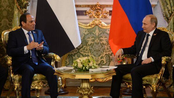 Egyptský prezident Abdel el-Sisi a ruský prezident Vladimir Putin - Sputnik Česká republika