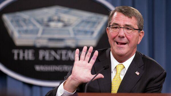 Ministr obrany USA Ashton Carter - Sputnik Česká republika