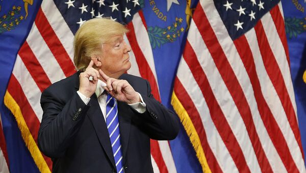 Uchazeč o post prezidenta USA za republikánskou stranu Donald Trump - Sputnik Česká republika