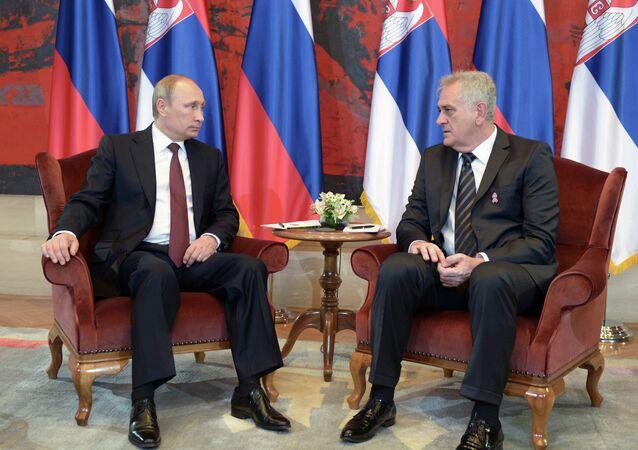 Vladimir Putin a Tomislav Nikolič
