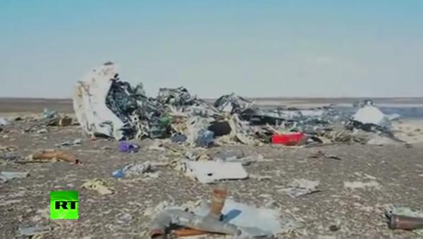 První video z místa havárie ruského A321 v Egyptě - Sputnik Česká republika
