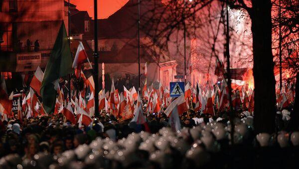 Demonstrace neonacistů ve Varšavě - Sputnik Česká republika