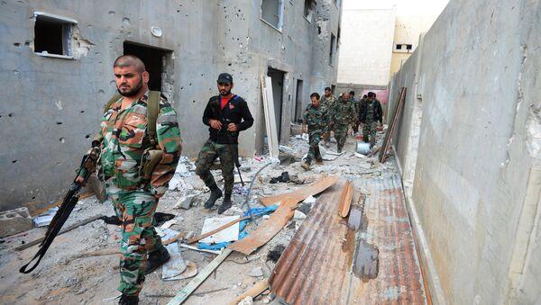 Syrská armáda v Homsu - Sputnik Česká republika