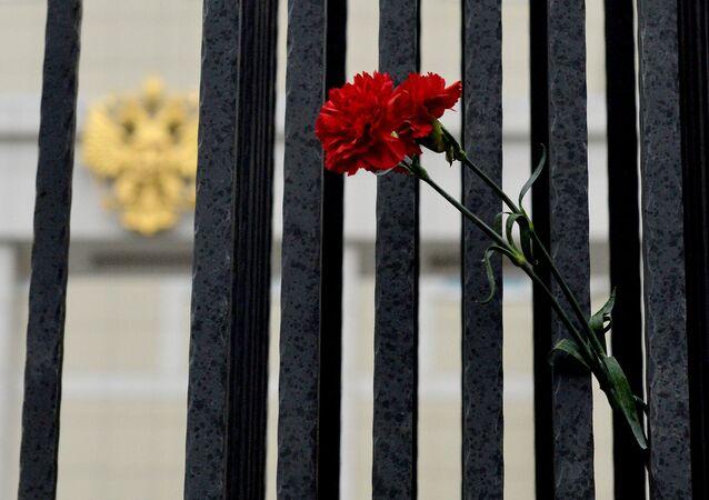 Květiny na památku obětí havárie A321