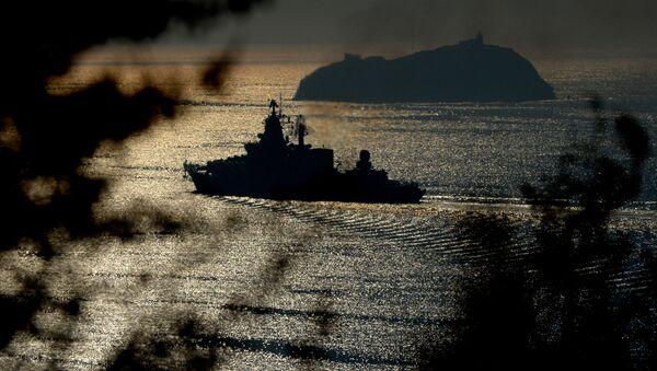 Vlajková loď Tichomořské flotily gardový raketový křižník Varjag - Sputnik Česká republika