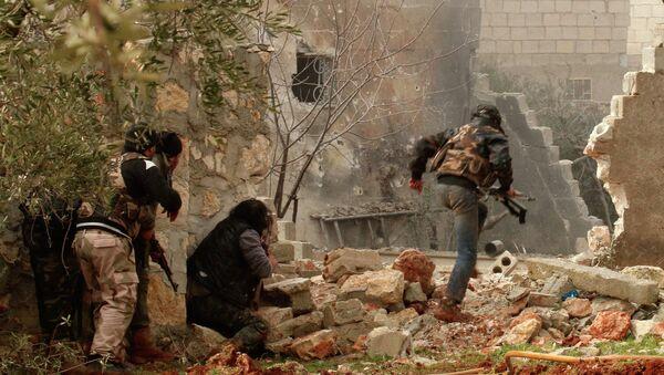 Příslušníci opozice nedaleko Aleppa - Sputnik Česká republika