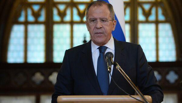 Ruský ministr zahraničí Sergej - Sputnik Česká republika