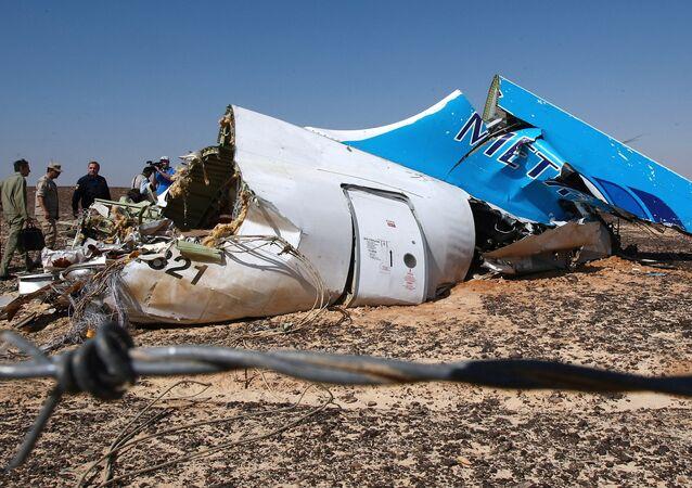 Místo havárie Airbusu A321