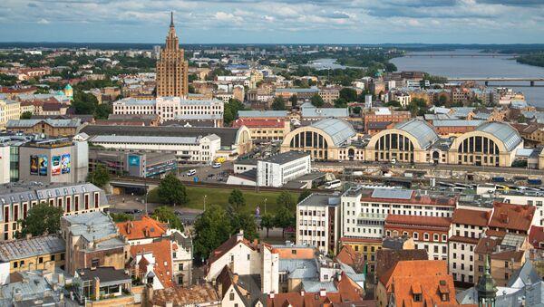 Lotyšsko, pohled na Rigu - Sputnik Česká republika