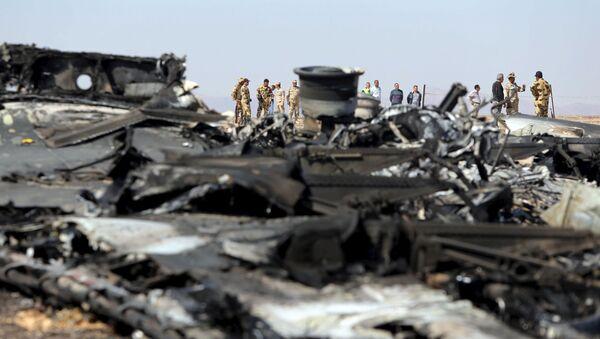 Trosky letadla, které se zřítilo nad Sinajem - Sputnik Česká republika