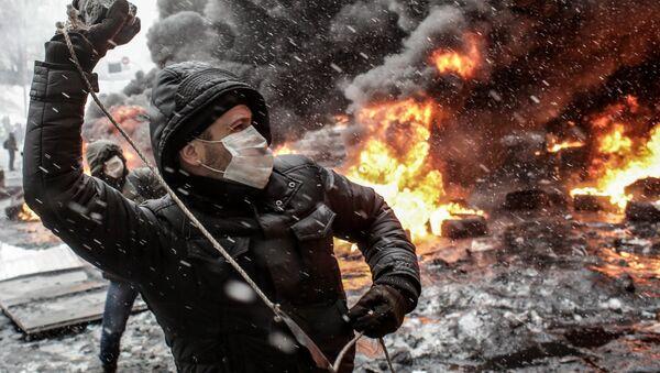 Účastník Euromajdanu - Sputnik Česká republika