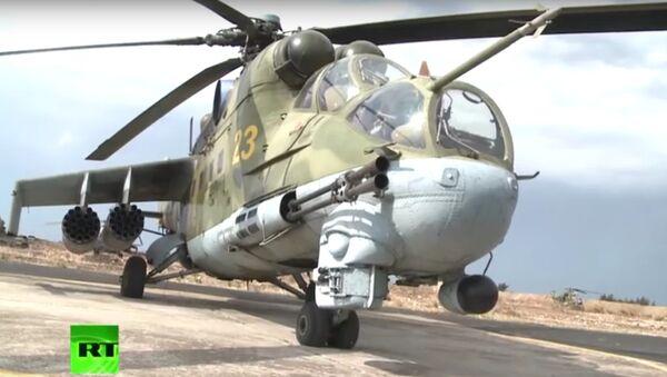Létající tank: legendární Mi-24 v Sýrii - Sputnik Česká republika