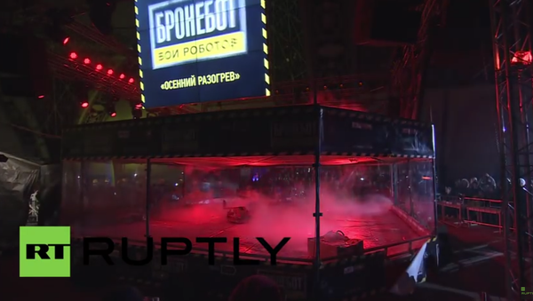 Souboj robotů v aréně na moskevské výstavě inovací - Sputnik Česká republika