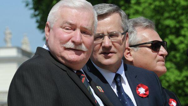 Bronisław Komorowski, Lech Wałęsa, Aleksander Kwaśniewski - Sputnik Česká republika