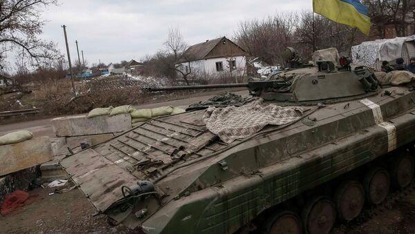 Obrněné vozidlo ukrajinské armády - Sputnik Česká republika