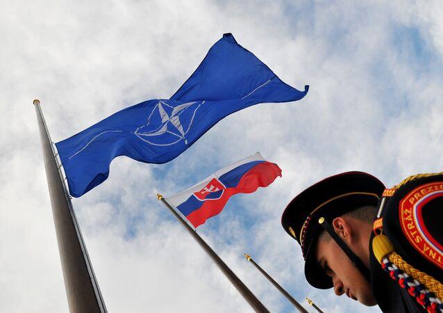 Vlajky NATO a Slovenska