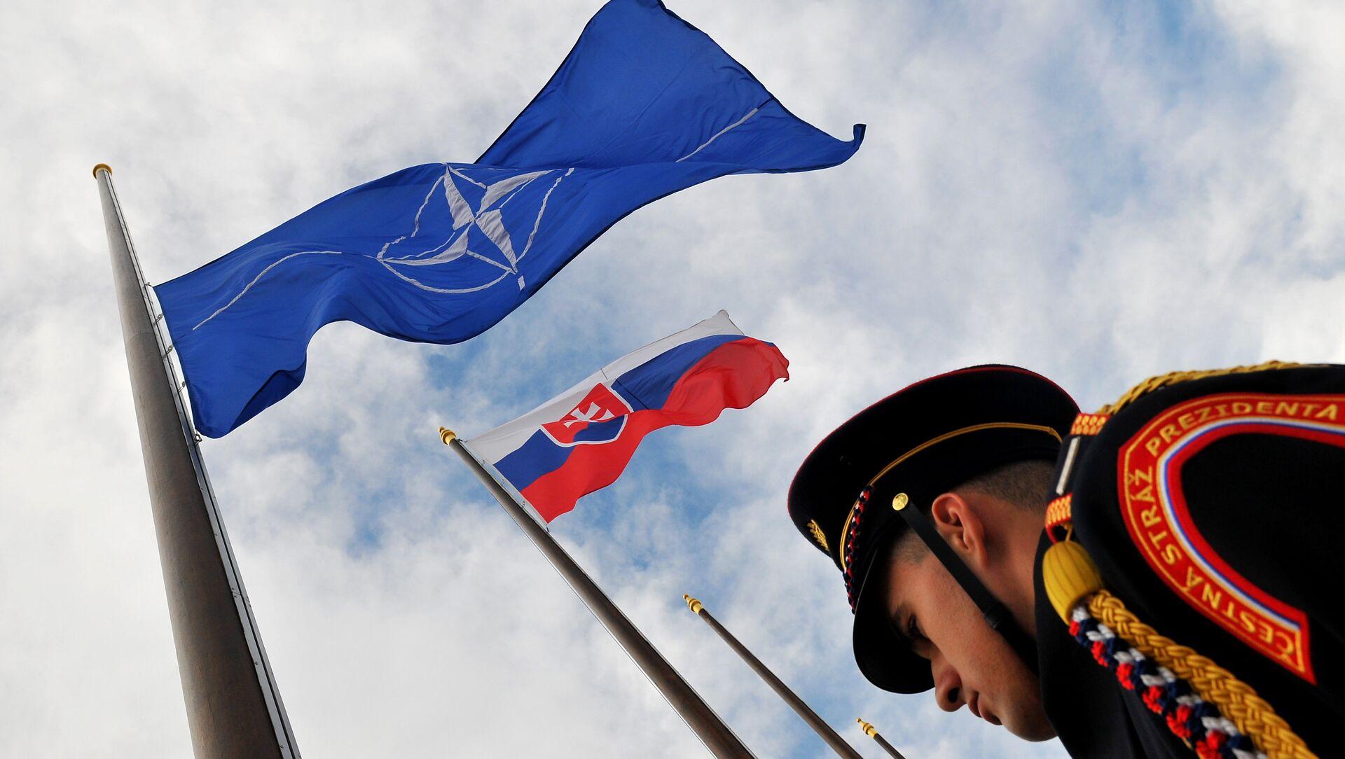 Vlajky NATO a Slovenska  - Sputnik Česká republika, 1920, 21.12.2020