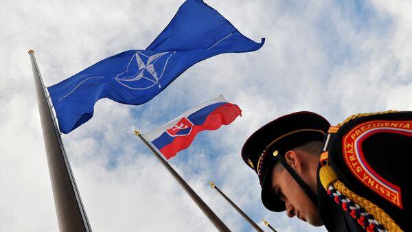 Vlajky NATO a Slovenska  - Sputnik Česká republika