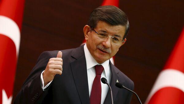 Ministerský předseda Turecka Ahmet Davutoglu - Sputnik Česká republika