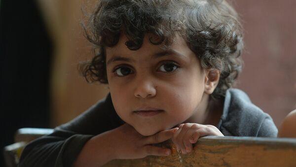 Syrské dítě v Damašku - Sputnik Česká republika