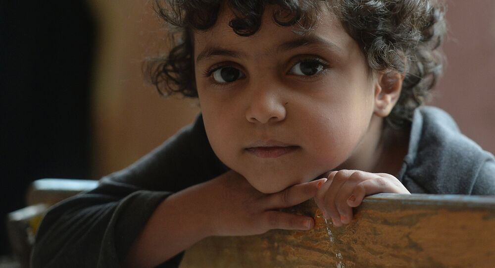 Syrské dítě v Damašku