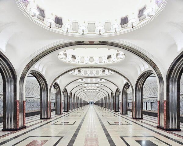 U-Bahn-Station Majakowskaja - Sputnik Česká republika