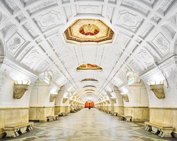 U-Bahn-Station Belorusskaja - Sputnik Česká republika