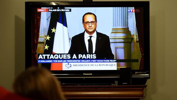 Francois Hollande promluvil v televizi po útocích v Paříži - Sputnik Česká republika