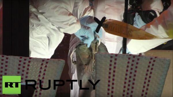 """Policisté prozkoumali """"pás šahida"""", nalezený na místě teroristického útoku v Paříži - Sputnik Česká republika"""