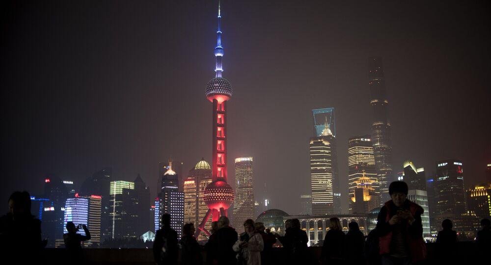 Oriental Pearl Tower v Šanghaji v Čínské lidové republice
