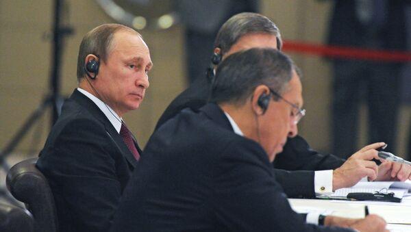 Putin na neformální schůzce lídrů zemí BRICS na Summitu G20 v Turecku - Sputnik Česká republika