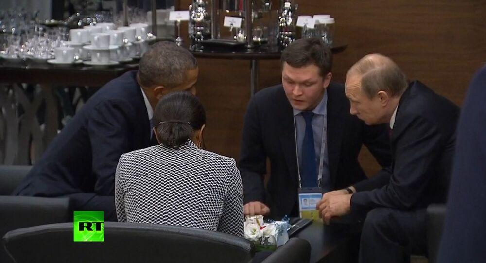 Putin a Obama besedovali mezi čtyřma očima v rámci summitu G20