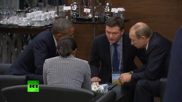 Putin a Obama besedovali mezi čtyřma očima v rámci summitu G20 - Sputnik Česká republika