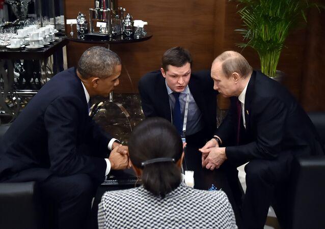 Ruský prezident Vladimír Putin a jeho americký kolega Barack Obama zdůraznili na jednáních v Antaly v rámci summitu G20 nutnost politické transformace v Sýrii