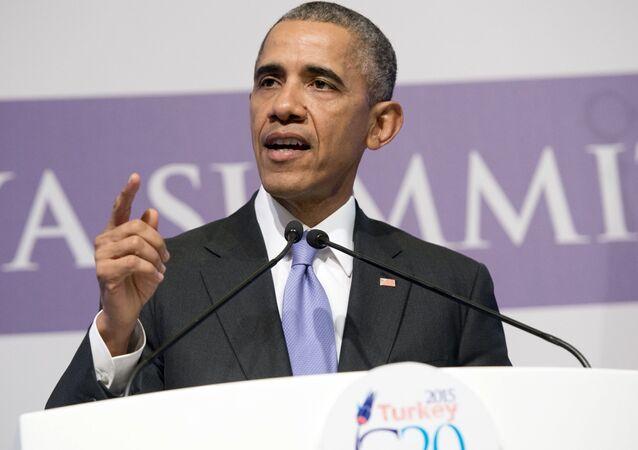 Barack Obama na summitu G20 v Turecku