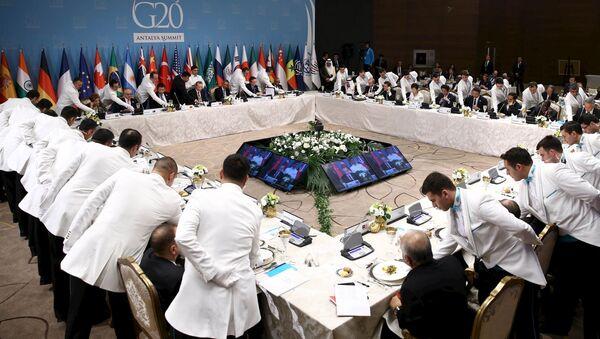 Oběd lídrů zemí G20 - Sputnik Česká republika