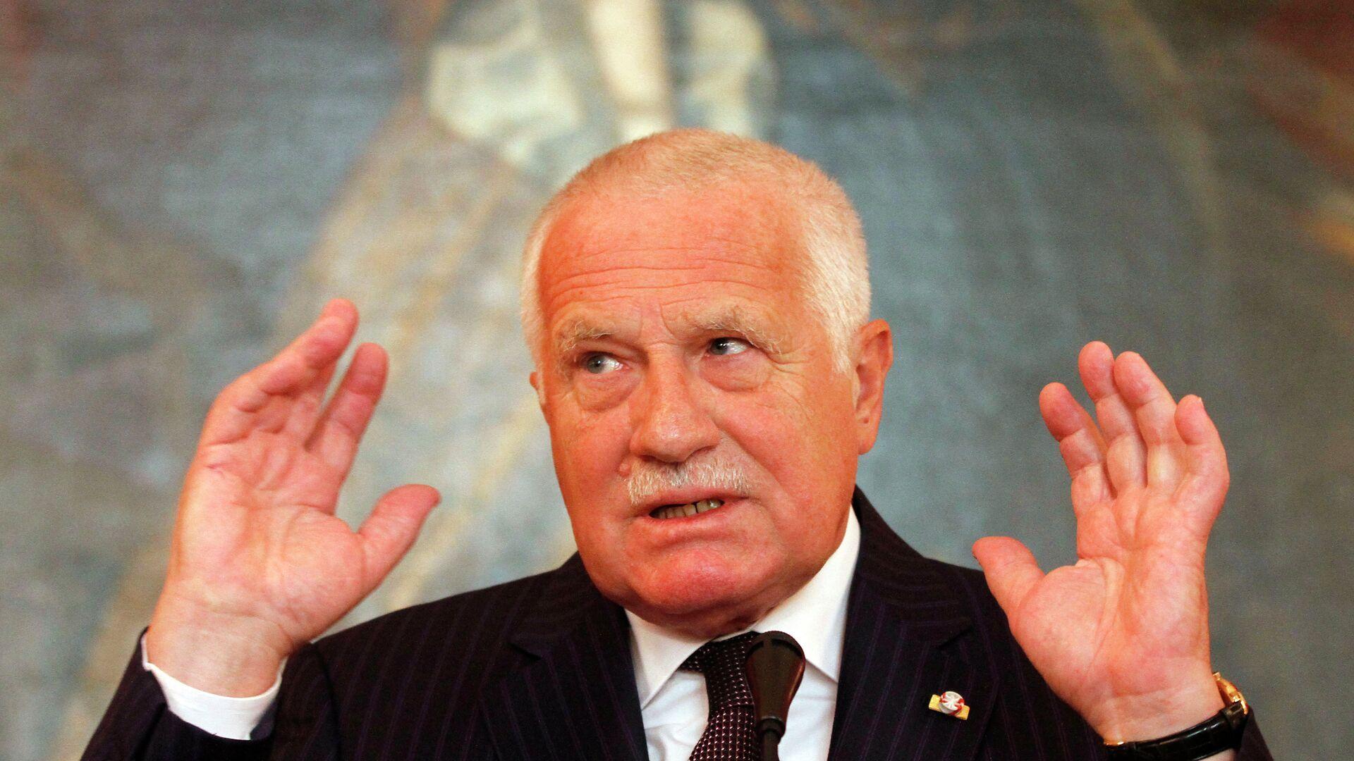 Bývalý český prezident Václav Klaus - Sputnik Česká republika, 1920, 14.05.2021