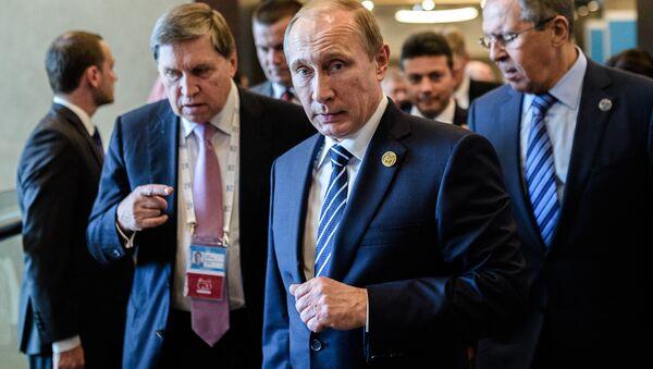 Vladimir Putin v Turecku - Sputnik Česká republika