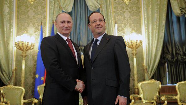 Setkání Vladimira Putina a Froncoise Hollanda - Sputnik Česká republika