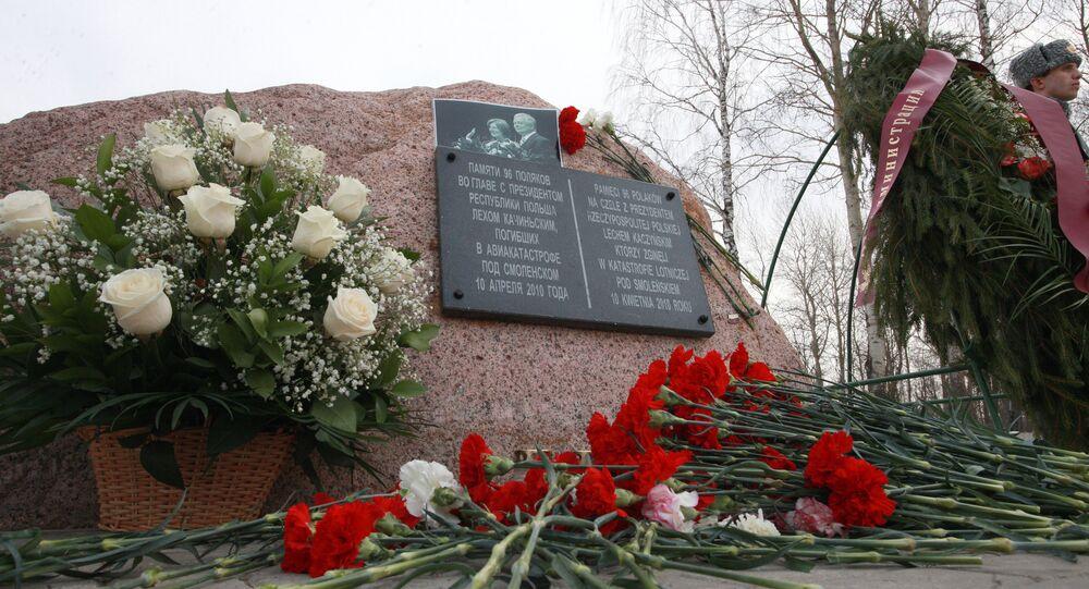 Pamětní deska Lecha Kaczyńského