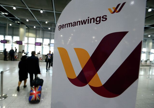 Emblém Germanwings v Duesseldorfu