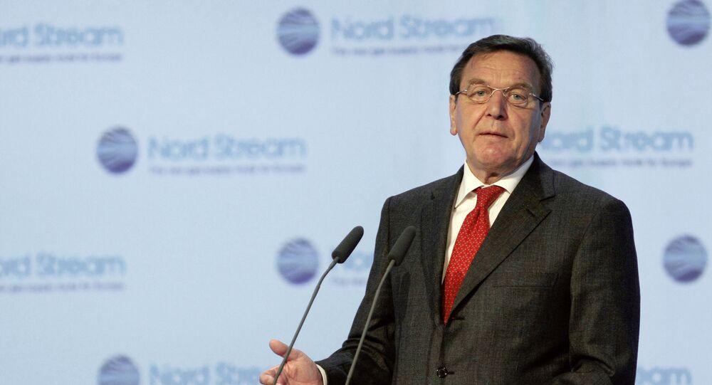 Bývalý kancléř Německa Gerhard Schröder